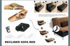 RECLINER - SOFA BED